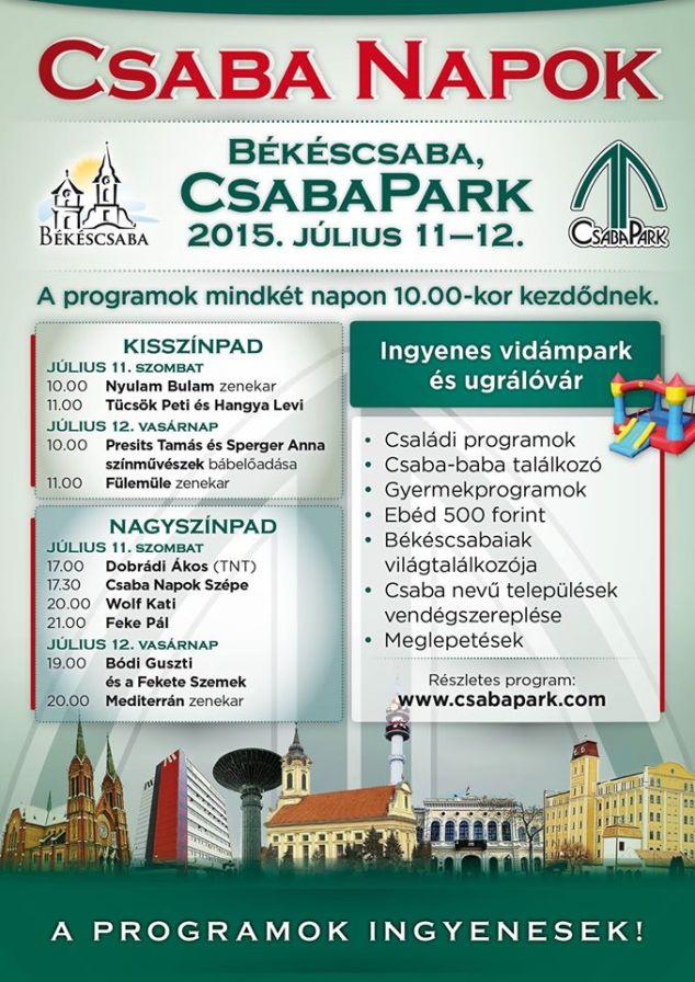 Csaba Napok plakát